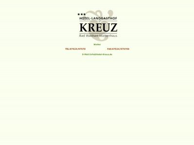 Hotel Landgasthof Kreuz Bad Waldsee
