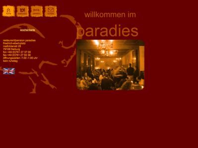 hotelverzeichnis fair hotels restaurant pension paradies 79106 freiburg breisgau. Black Bedroom Furniture Sets. Home Design Ideas